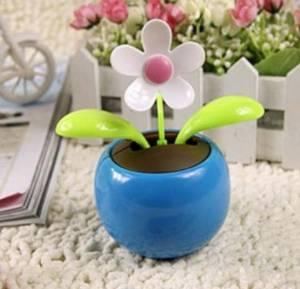 Car solar dancing/Swing Solar Flower For Car/Swing Solar Flower/The Best U Want Blue