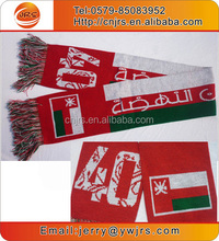 Yiwu factory wholesale knitting national flag scarf thanksgiving days scarf