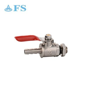 Best quality CSA Hose Connection Mini Brass Ball Gas Valve with Compression Nut