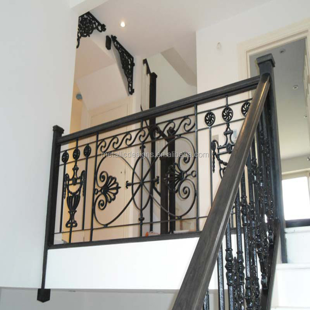 New Style Stair Design Balustrades Fence Wrought Iron Hand