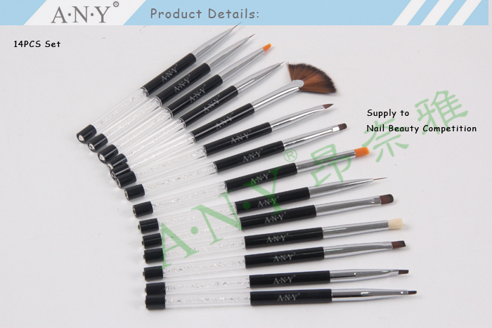 Any Nail Art Beauty Design Crystal Pure Kolinsky Nail Brushes Nails ...