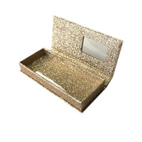 Custom false eyelash paper packaging box with logo gold stamping