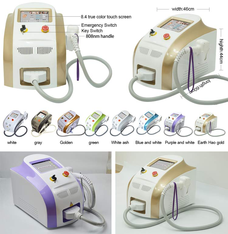 FDA TUV 755 808 1064nm 1000W Diode Laser Machine Portable Permanent Hair Removal Alma Laser Soprano