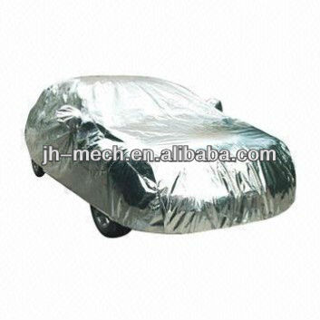 snow proof silver aluminum foiled car cover