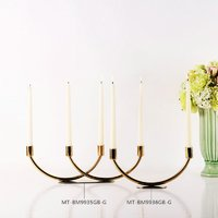 European Style Simple Metal Candle Holder Decorative Candlestick Stand Wedding table centerpiece metal candle holder