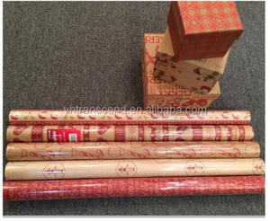 Brown kraft paper printing and foil stampinng paper gift wrapping paper roll