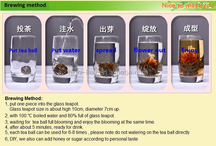 N8 High quality chinese handmade beautiful and romantic herbal flower blooming tea balls - 4uTea   4uTea.com