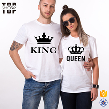 Valentine gift lovers clothes short sleeve crew neck wholesale fashion design couple t shirts