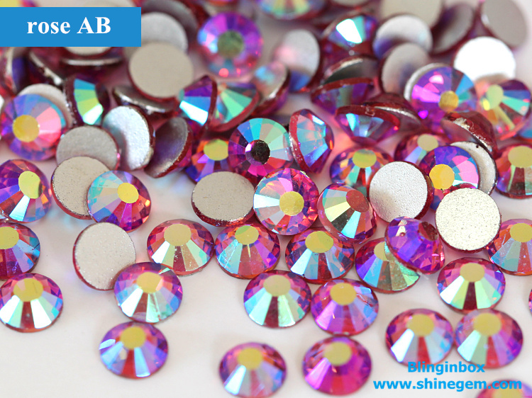 Factory Wholesale Shiny Crystal AB Color Glass Non Hot Fix Nail Art Rhinestones For DIY Nails Decoration
