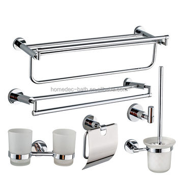bath hotel brass chrome bathroom accessories set