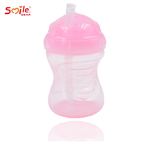 210ml Hot Sale Custom Silicone Plastic Baby Suction Sippy cup