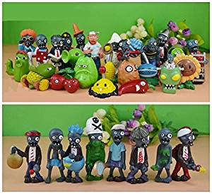 Judy Dre am 32pcs Plants Vs Zombies Toys Series Game Role Figures Display Toy PVC Decorations for Kids
