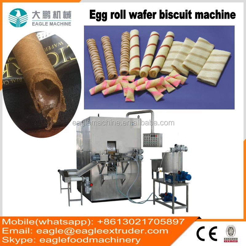 Jinan eagle 100kg per hour roll wafer stick biscuit production <strong>line</strong>