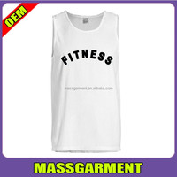Men fit plus size tank tops white vest tank tops manufacturer in China