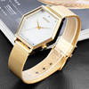 PVD Gold Stainless steel case and strap Japan movement 1ATM water resistant moving disk color changing watch
