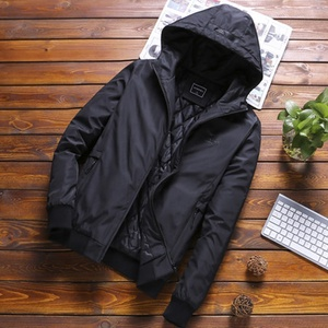 TIMES 2018 OEM Custom Apparel Products Black Parachute Jackets Coaches Men Jackets Wholesale Short Polyester Padded Jacket