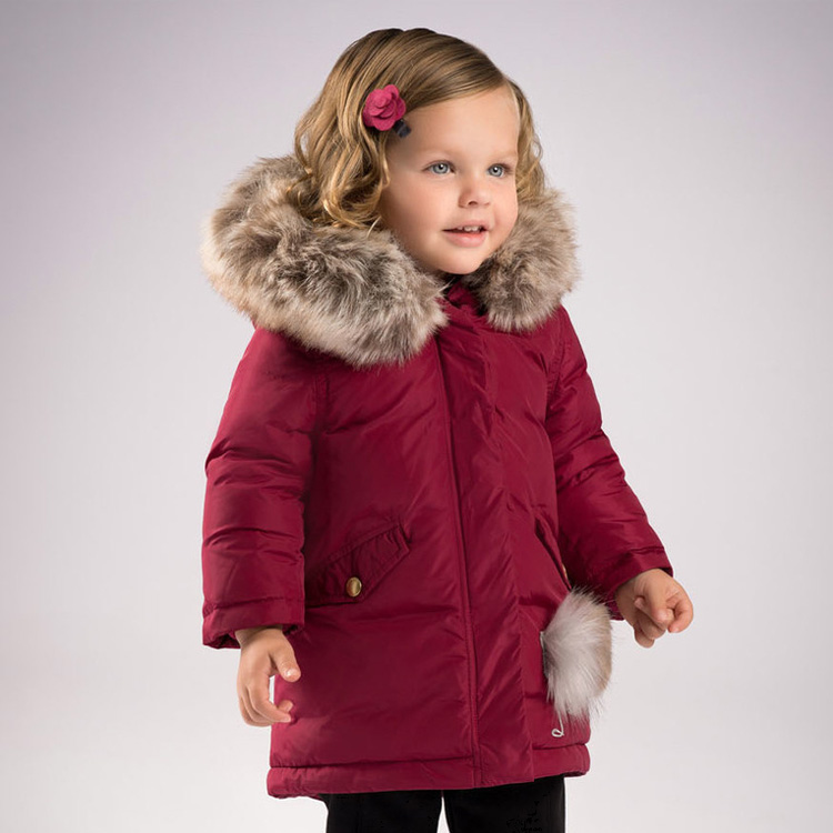 AW17 winter new design girl's down jacket thick warm down jacket