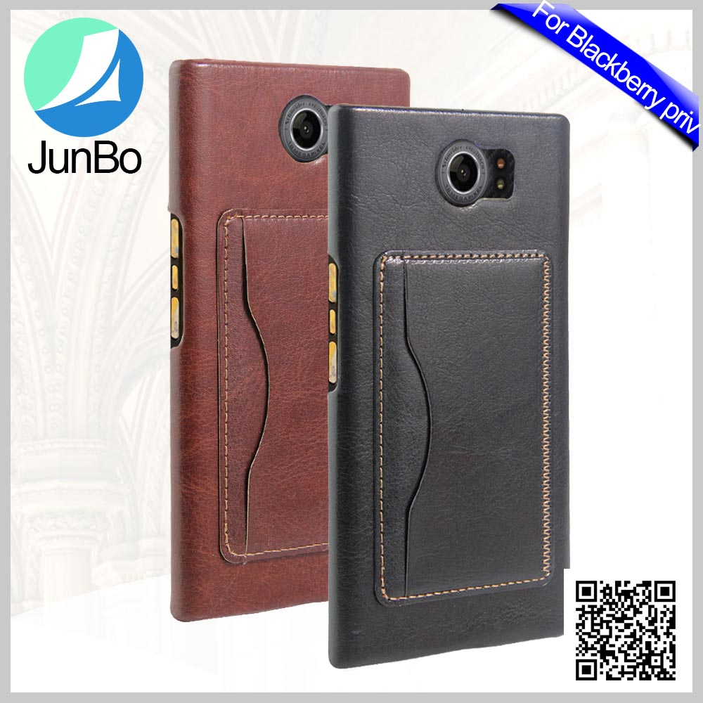 Leather case pu wallet card holder phone cover for blackberry priv bulk buy from china