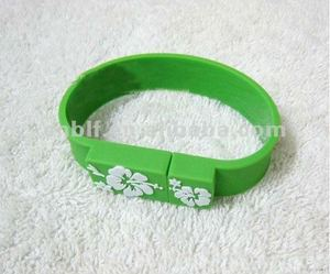 OEM printing logo wristband colorful fast speed real capacity excellent usb flash drive 32gb