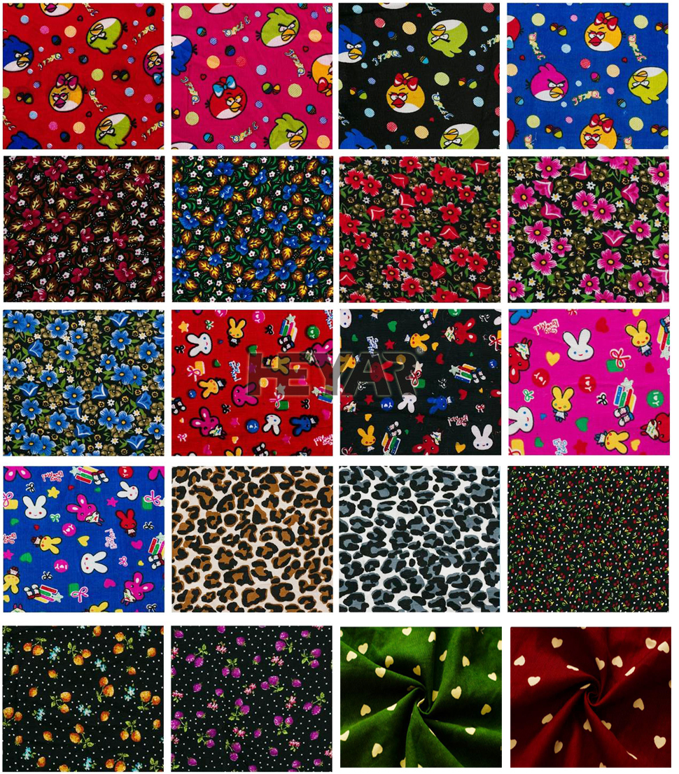 Buy baby wale flower pattern printed corduroy fabric buy for Where to order fabric