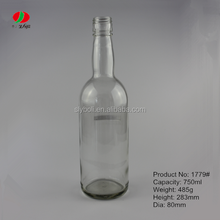 750 ml whisky glasflasche