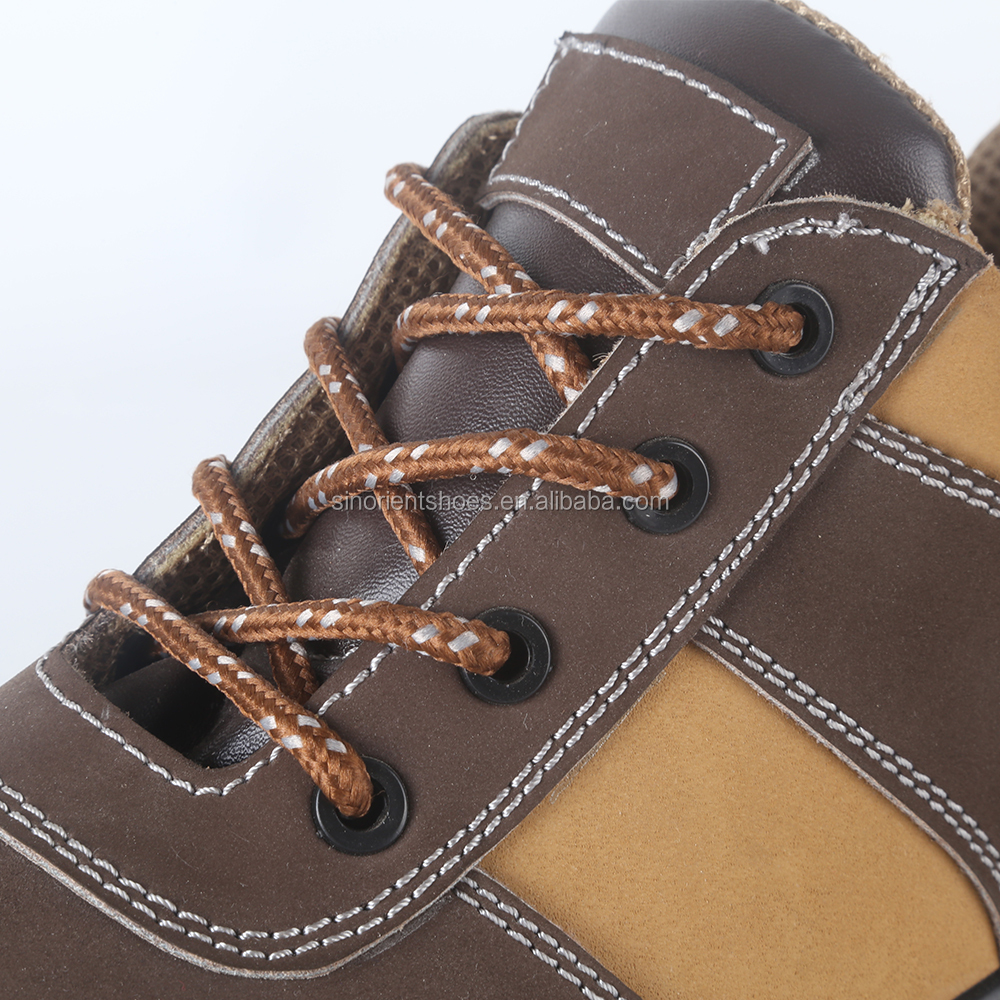 High quality Nubuck leather CE S1P standard plastic toe cap woodland safety shoes price in india SN427