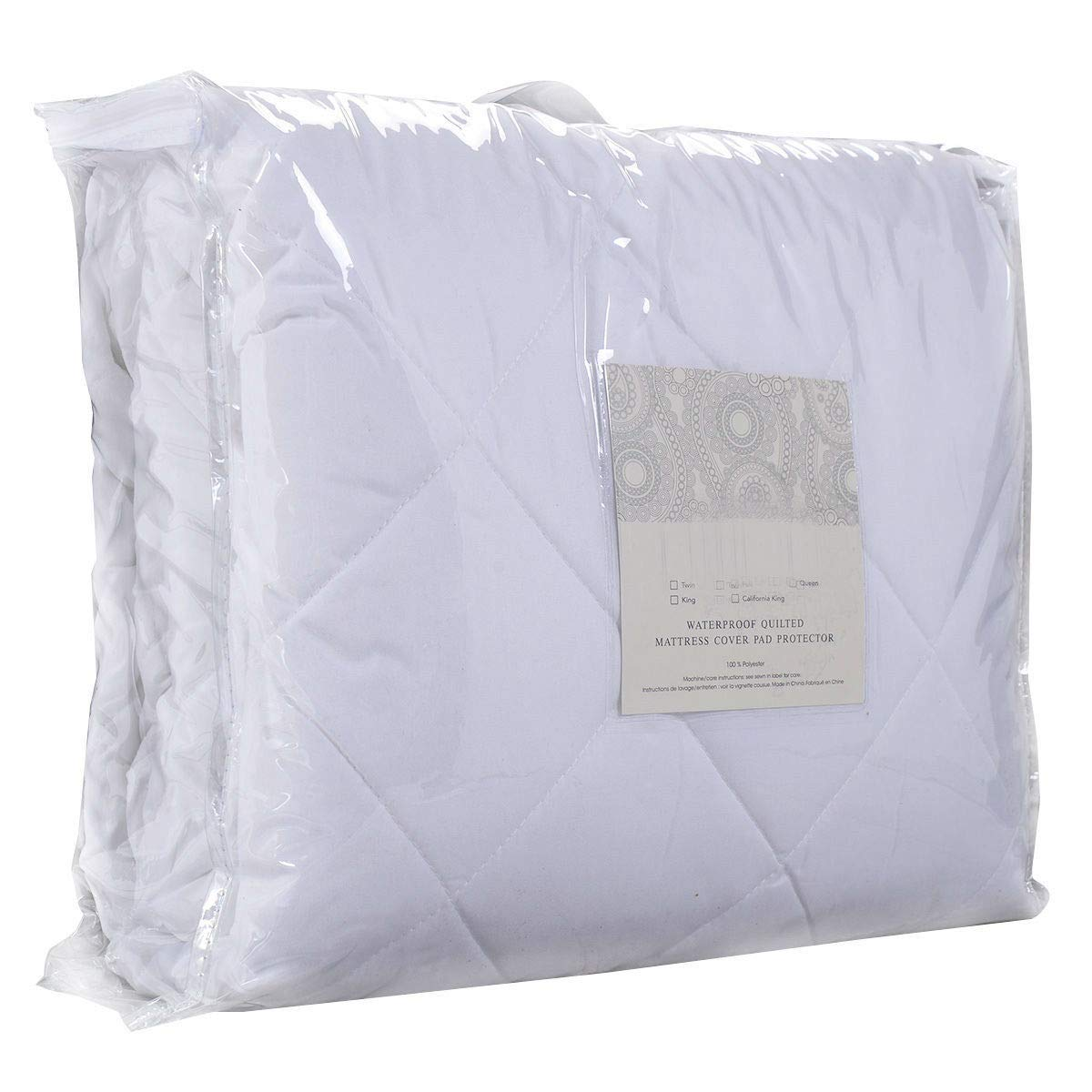 Full Size Mattress Cover Bed Topper Bug Dust Mite Waterproof Pad Protector Quilted