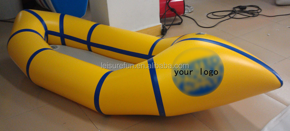 1 person portable inflatable pack raft for fish, packrafting