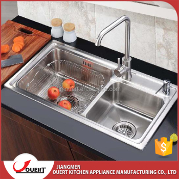 European Style One Piece Kitchen Sink And Countertop Triangle Overflow