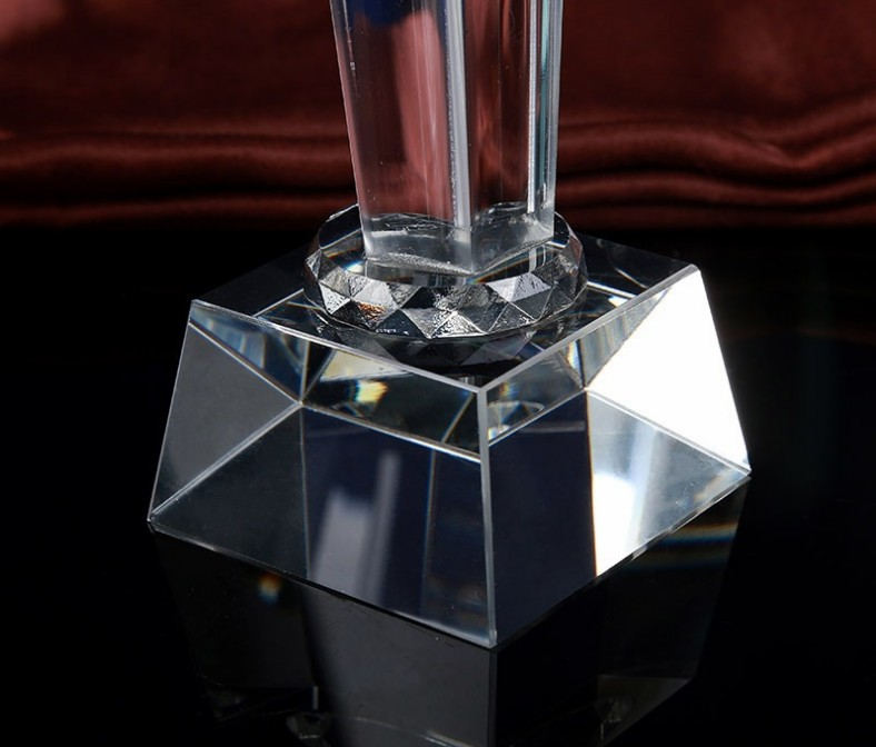 Custom K9 crystal trophy souvenirs / crystal crafts