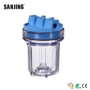 5 inch plastic clear pvc filter housing
