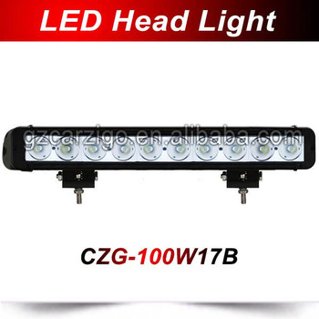 single row 10w/pc led light bar industrial ,led light bar roof mount ,4x4 offroad led truck light bar