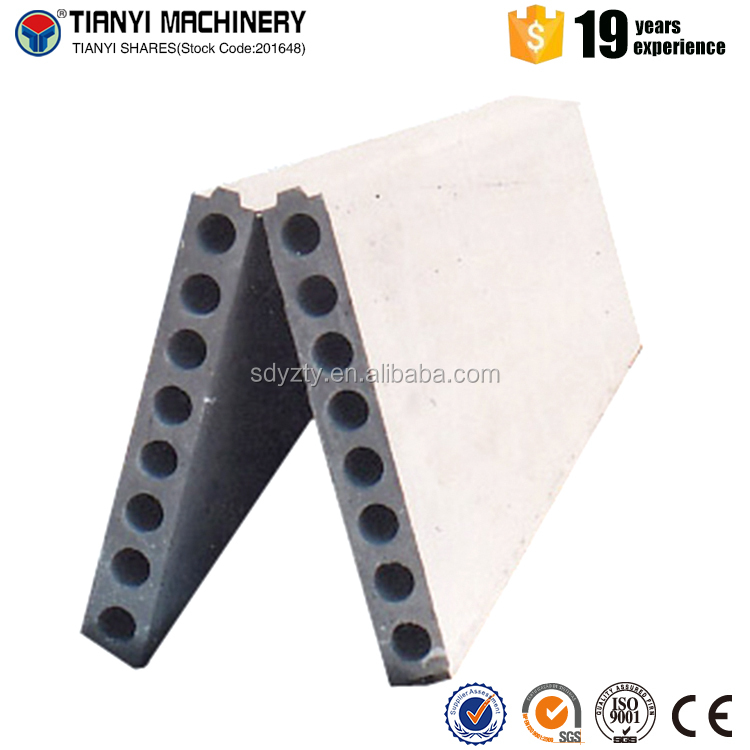 100mm hollow core lichtgewicht beton wandpanelen/Lichtgewicht Beton Hollow Core Gips Wandpaneel