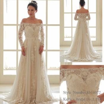 Off the Shoulder Flower Wedding Dress