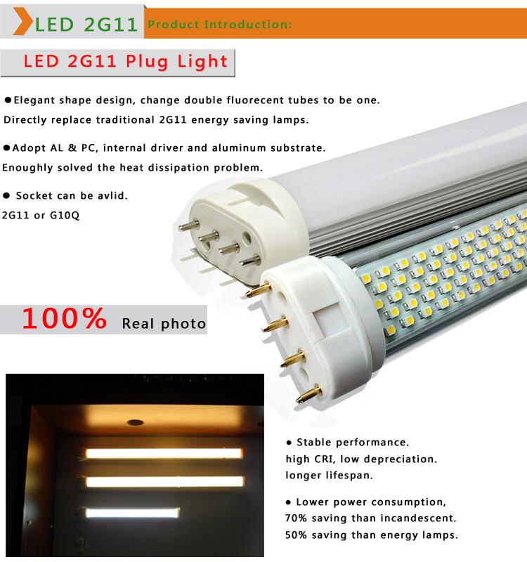 8w 2g11 Pll Led Tube Lights 320/415/535mm Gy10q Socket
