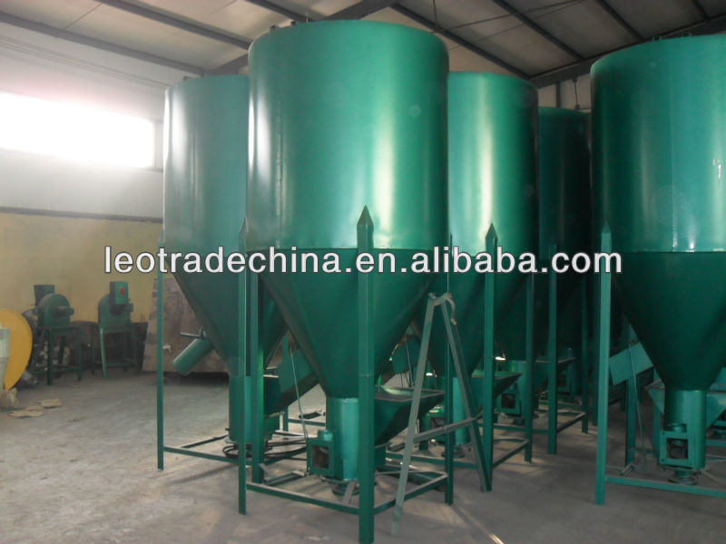 vertical feed mill and mixer for animal feed and poultry feed