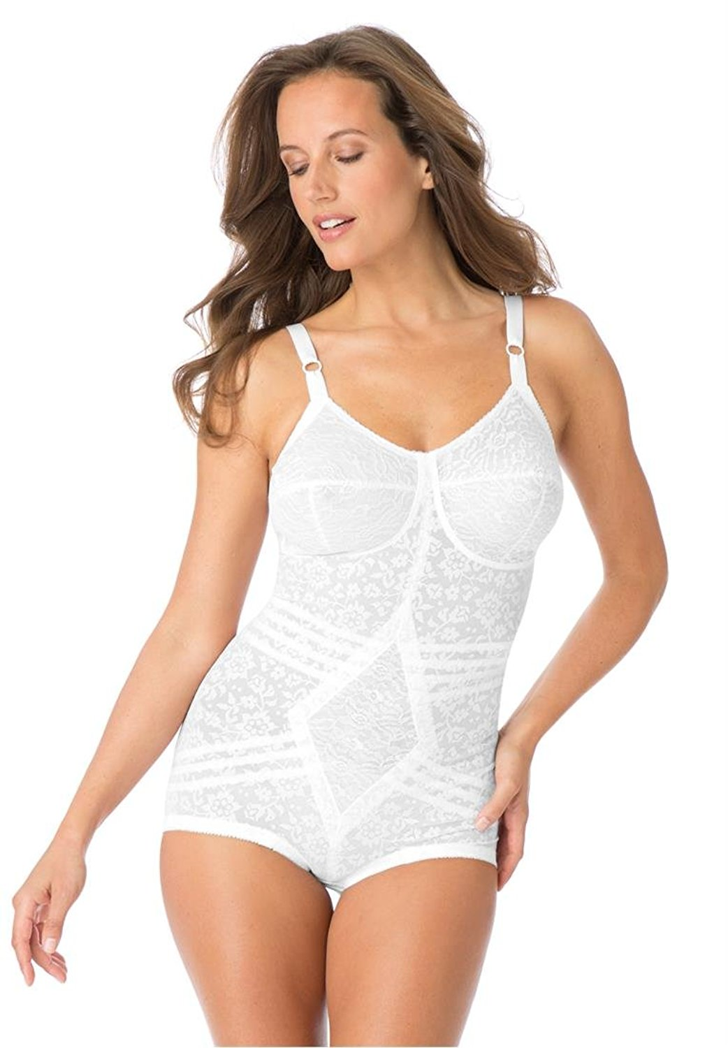823e43d3778 Get Quotations · Rago Women s Plus Size All-In-One Extra-Firm Shaping Body  Briefer White