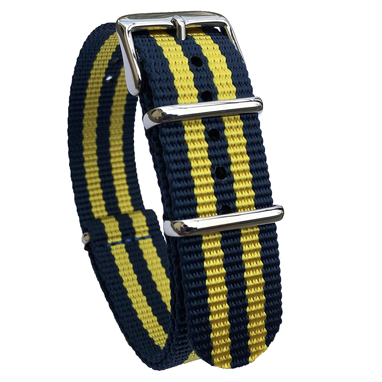 ebc50375ae9 Get Quotations · Leesting Nylon NATO ZULU 18mm 20mm 22mm Premium Ballistic  Colorful Watch Strap Replacement Men Women Band