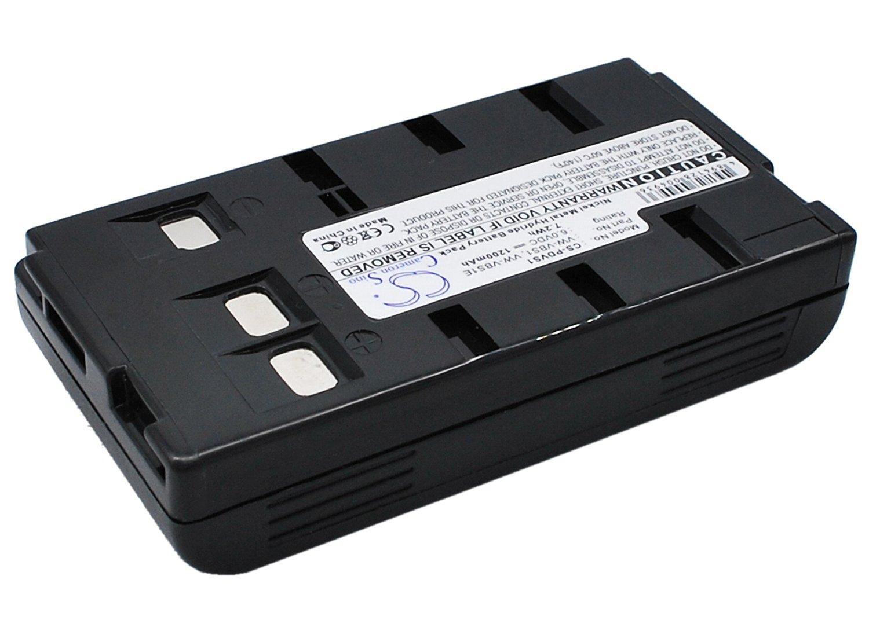 Battery for Panasonic PV-L354 PV-L552 PV-L557 PV-L606 PV-L657 6.0V 1200mAh