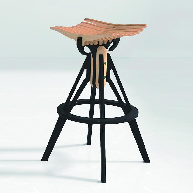 Hafif kolay taşıma bar sandalyesi çocuklar ahşap mutfak tabure