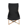 Outdoor wood folding camping chair wooden portable canvas beach mat chair canvas lounge chair