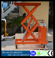 Hand Trolley Manual Truck Hydraulic Mobile Scissor Lift Table Manual Cart