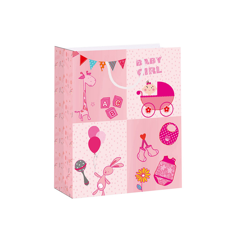 Promotional Custom Serviceable Colorful Fashion Special Paper Bags With Rope Handles