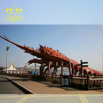 Amusement Park Decorations Color Painting Fiberglass Resin Lobster Sculpture