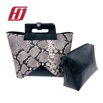 Eco Friendly PU handbag Fashion bags Animal Print for ladies Leather Tote bag