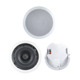 PA System 40W 8 inch Coaxial Ceiling Speaker With Rear Cover and Tweeter