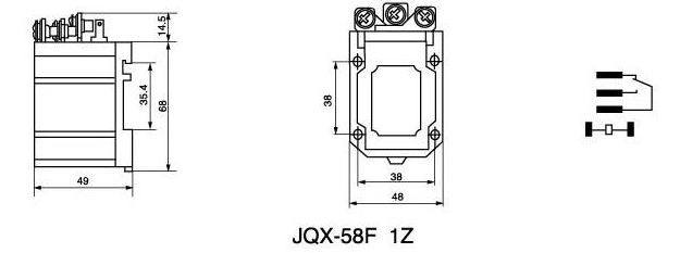 jqx-58f 60a coil ac 220v spdt general purpose electromagnetic relay