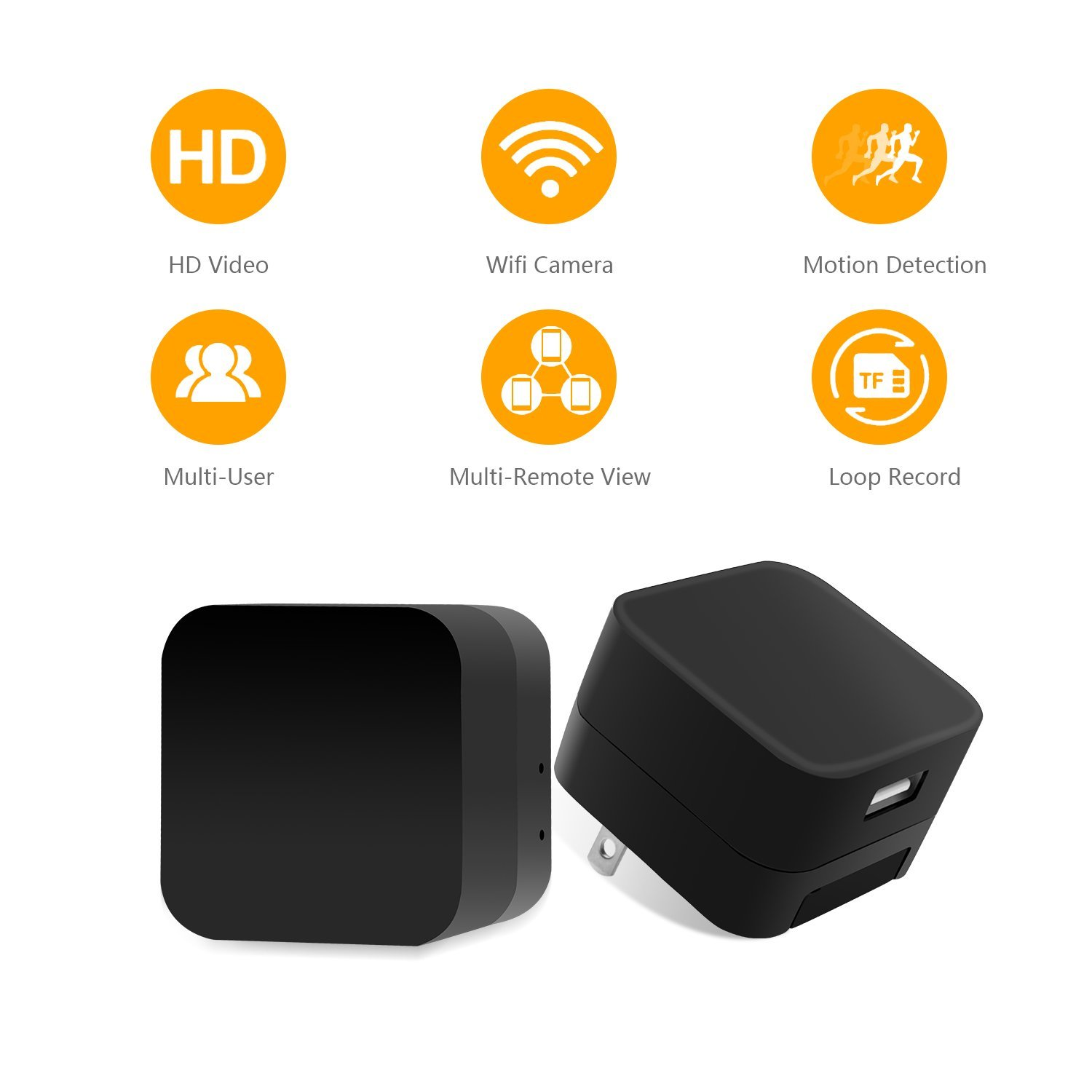 2018 Hot Sale Mini WIFI HD 1080P Hidden SPY USB Adapter Wall Charger Motion Detection Spy Camera Charger