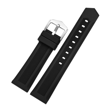 Ready to ship amazon hot sell 16mm18mm 20mm 19mm 20mm 21mm 22mm 24mm universal Silicone Rubber Watch Strap
