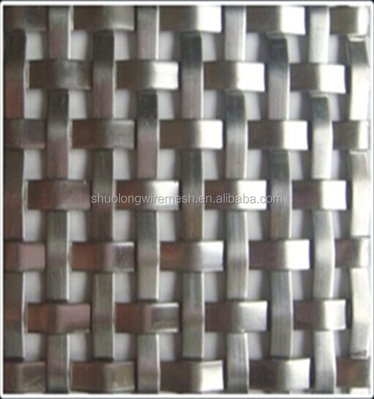 Architectural Stainless Steel Woven Flat Wire Mesh Metal